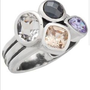 "Silpada Designs ""Wine Flight"" multi stone ring"